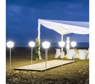 BABYLOVE udendørs bedlampe i Poleasy H182 x Ø42 cm - Hvid