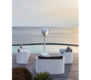 HOLLYWOOD udendørs gulvlampe i Poleasy H220 cm - Hvid