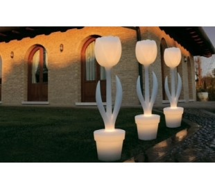 TULIP XL udendørs gulvlampe i Poleasy H151 x Ø37 cm - Hvid