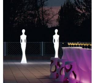 PENELOPE udendørs gulvlampe i Poleasy H210 cm - Hvid
