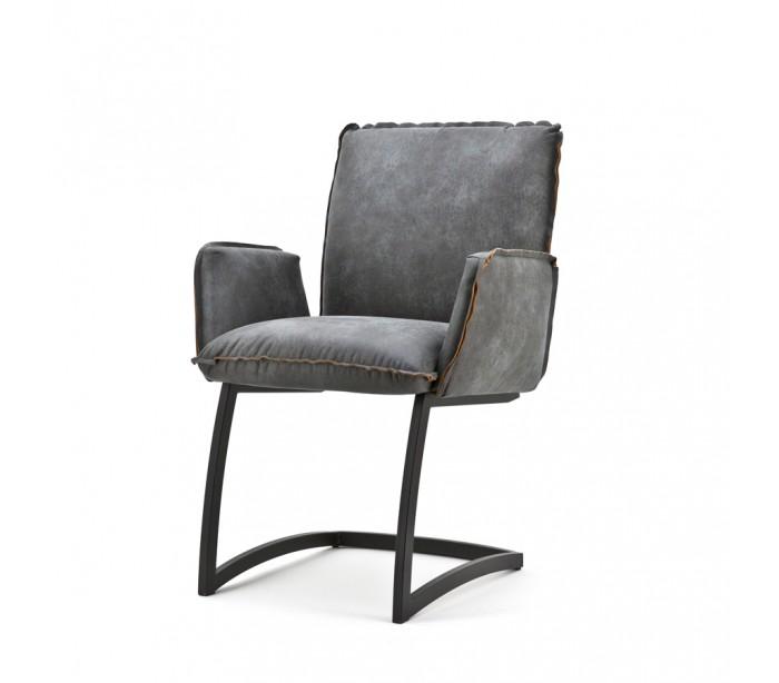 tikamoon 2 x joel spisebordsstole med armlæn h87 cm - antracit fra lepong.dk