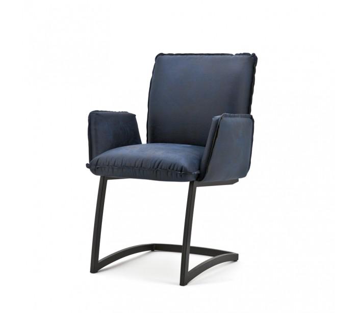 selected by lepong 2 x joel spisebordsstole med armlæn h87 cm - blå på lepong.dk