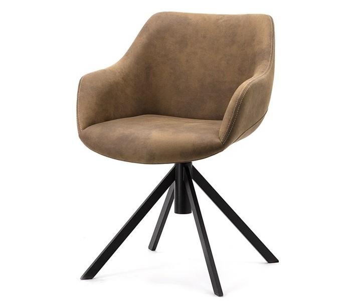 Image of   2 x Menno spisebordsstole i polyester H80 cm - Brun
