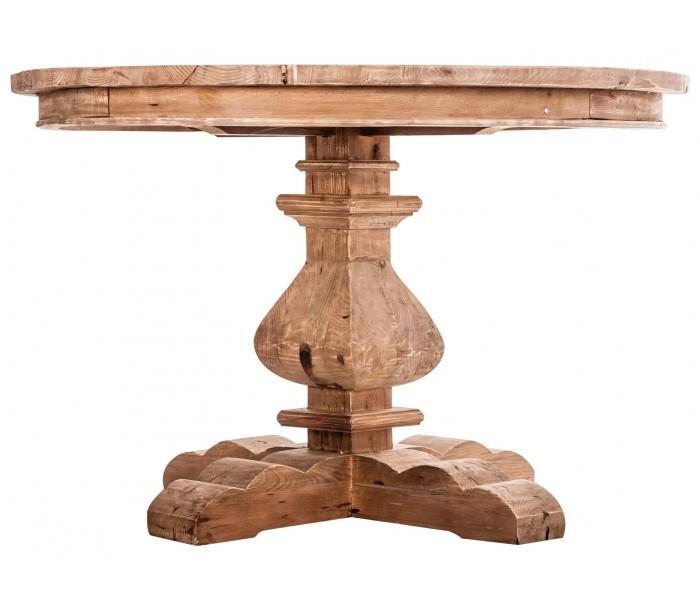 vical home – Rustikt spisebord i fyrretræ ø120 cm - natur på lepong.dk
