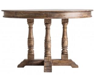 Rundt spisebord i mangotræ Ø122 x H77 cm - Brun natur