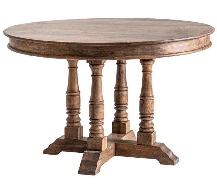 vical home – Rundt spisebord i mangotræ ø122 x h77 cm - brun natur på lepong.dk