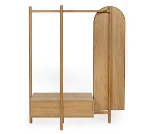 Tripod garderobe med 1 skuffe H180 x B149 cm - Eg