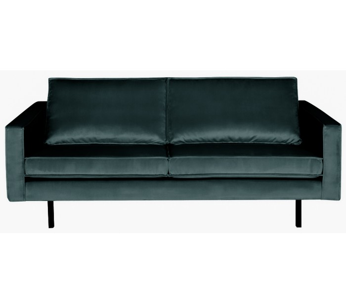 Image of   2,5-personers sofa i velour B190 cm - Teal