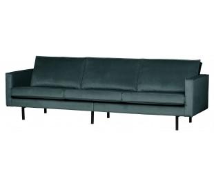 3-personers sofa i velour B277 cm - Teal