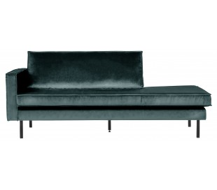 Daybed sofa i velour B206 cm - Teal