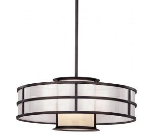 Discus Loftlampe i jern og opalglas Ø61 cm 1 x E27 - Grafit grå/Opalhvid