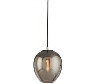 Odyssey Loftlampe i glas og jern Ø23 cm 1 x E27 - Smoked/Poleret nikkel