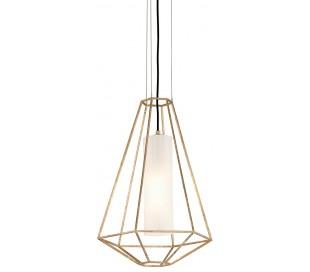 Silhouette Loftlampe i glas og jern Ø41 cm 1 x E27 - Opalhvid/Guld