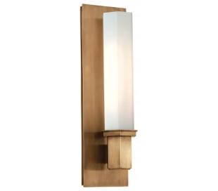 Walton Væglampe i messing og opalglas H38 cm 1 x E27 - Antik messing/Opalglas