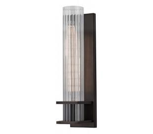 Sperry Væglampe i stål og glas H32,5 cm 1 x E27 - Antik bronze/Klar