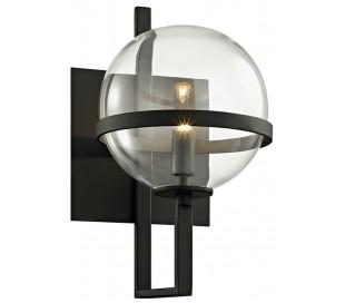 Elliot Væglampe i jern og glas H29,3 cm 1 x G9 LED - Antik sort/Klar