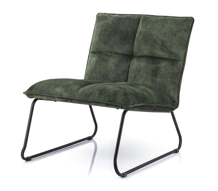 Lænestol i polyester og metal H76 x B82 x D64 cm – Grøn fra Selected by Lepong
