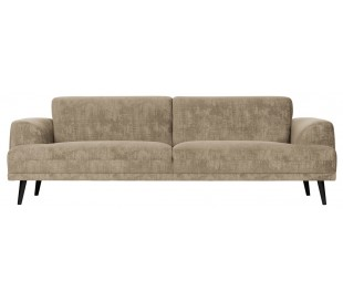 Moderne 3-personers sofa i velour 234 x 93 cm - Champagne