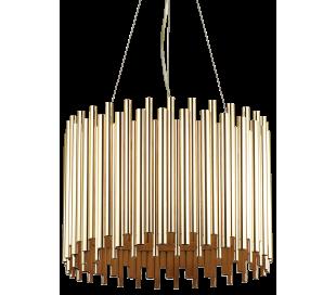 PAN Loftlampe i stål Ø47 cm 5 x E27 - Guld