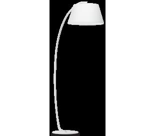 PAGODA Gulvlampe i metal og tekstil H184 cm 1 x E27 - Hvid