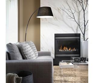 PAGODA Gulvlampe i metal og tekstil H184 cm 1 x E27 - Sort