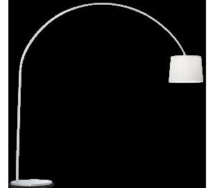DORSALE Gulvlampe i metal og tekstil H228 cm 1 x E27 - Krom/Hvid