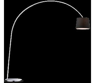 DORSALE Gulvlampe i metal og tekstil H228 cm 1 x E27 - Krom/Sort