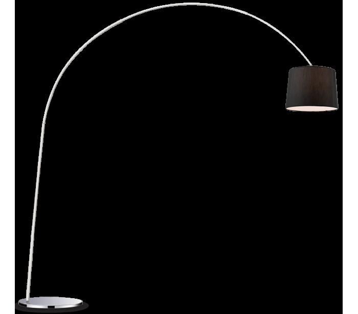 Image of   DORSALE Gulvlampe i metal og tekstil H228 cm 1 x E27 - Krom/Sort