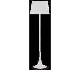 LONDON Gulvlampe i metal og tekstil H174 cm 1 x E27 - Hvid