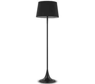 LONDON Gulvlampe i metal og tekstil H174 cm 1 x E27 - Sort