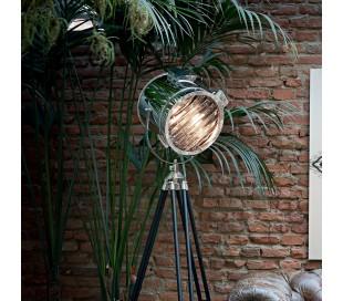 KRAKEN Gulvlampe i metal H175 cm 1 x E27 - Krom/Sort