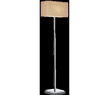 KRONPLATZ Gulvlampe i metal og kanvas H157 cm 1 x E27 - Brun