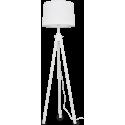 YORK Gulvlampe i træ og tekstil H164 cm 1 x E27 - Hvid