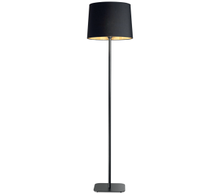 NORDIK Gulvlampe i metal og tekstil H162 cm 1 x E27 - Sort/Gylden