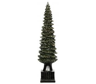 Juletræ i polyresin H50 cm - Antik grøn
