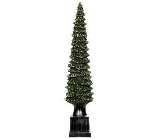 Juletræ i polyresin H70 cm - Antik grøn