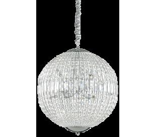 LUXOR Lysekrone i glas og metal Ø50 cm 8 x G9 - Krom/Klar