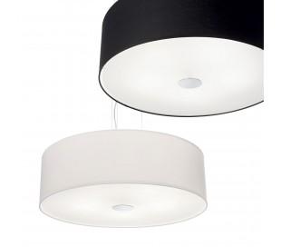 WOODY Loftlampe i tekstil og glas Ø50 cm 4 x E27 - Hvid