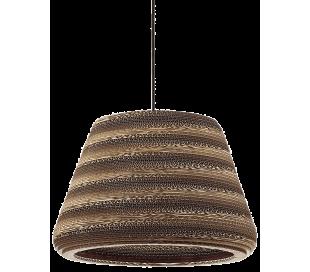 PAPER Loftlampe i pap Ø50,5 cm 1 x E27 - Brun