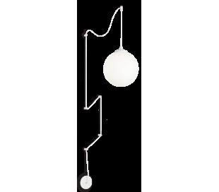 BOA Loftlampe i glas og metal Ø30 cm 1 x E27 - Hvid/Hvid
