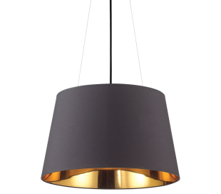 NORDIK Loftlampe i folie Ø50 cm 4 x E27 - Sort/Gylden