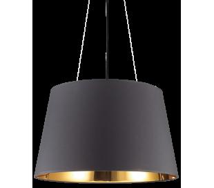 NORDIK Loftlampe i folie Ø60 cm 6 x E27 - Sort/Gylden