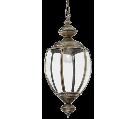 NORMA Loftlampe i glas og metal Ø25 cm 1 x E27 - Antik messing