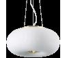 ARIZONA Loftlampe i glas og metal Ø40 cm 3 x GX53 - Satineret messing/Hvid