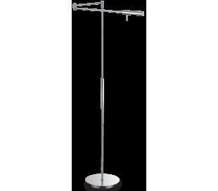 DRILL Gulvlampe i metal H127 cm 1 x G9 - Krom