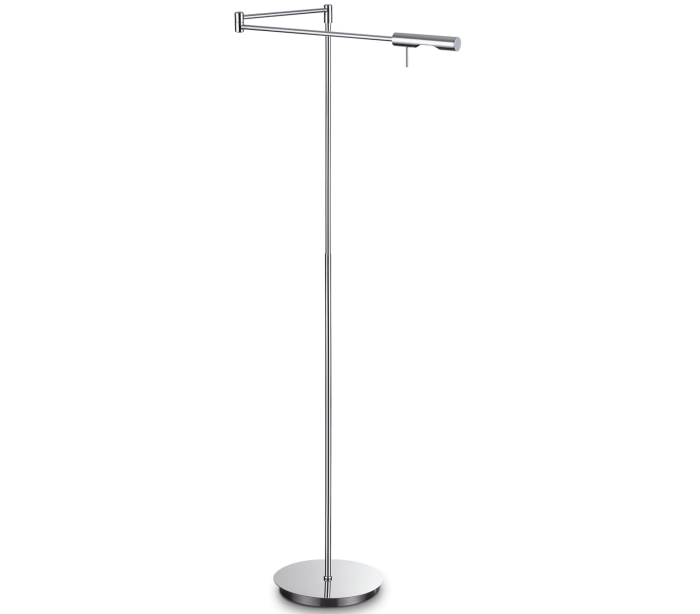 Image of   DRILL Gulvlampe i metal H127 cm 1 x G9 - Krom
