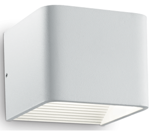 CLICK Væglampe i aluminium B10 cm 1 x 6W LED - Hvid