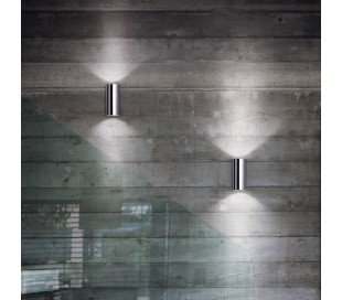 HOT Væglampe i metal H18 cm 2 x GU10 - Krom