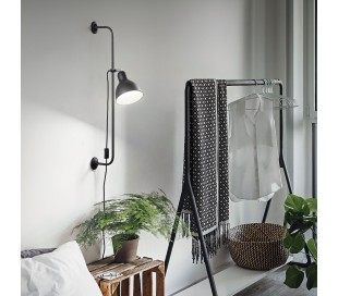 SHOWER Væglampe i metal H89 cm 1 x E27 - Sort