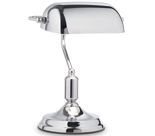 LAWYER Bordlampe i metal H38 cm 1 x E27 - Krom